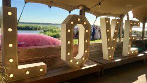 Love letters, verlichte love letters, loveletters, bruiloft, wedding